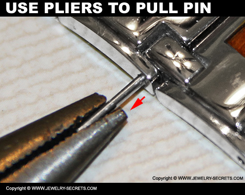 Use Pliers To Pull Watch Pin Out