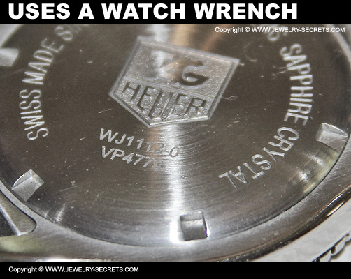 Watch Back Uses A Special Watch Wrench To Open Cover