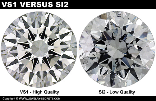 VS1 Diamond And SI2 Clarity Look Totally Different