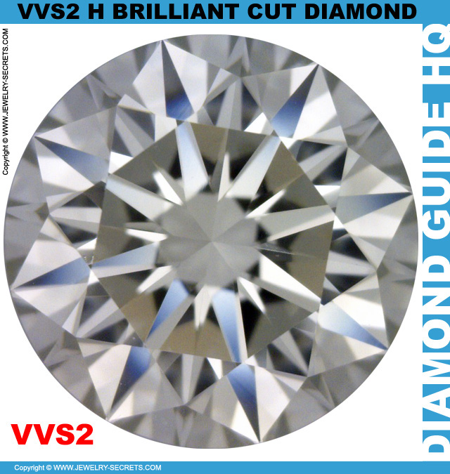 VVS2 H Brilliant Cut Diamond