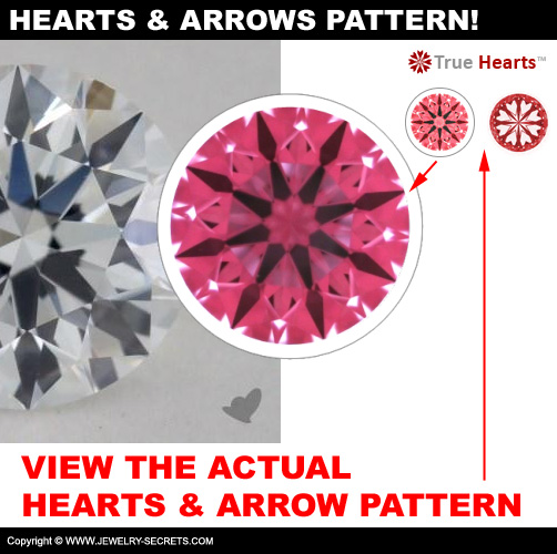View The Actual Hearts And Arrows Pattern