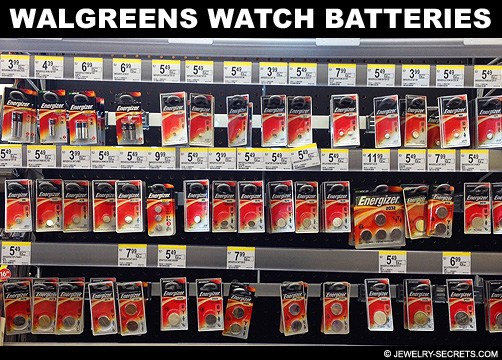 Walgreens Watch Battery Prices