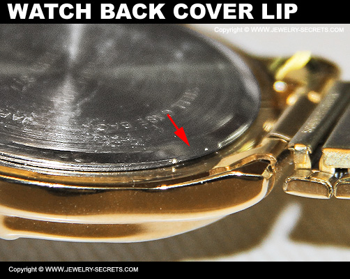 Watch Back Cover Lip