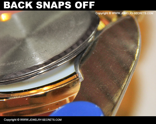 Watch Back Snaps Off