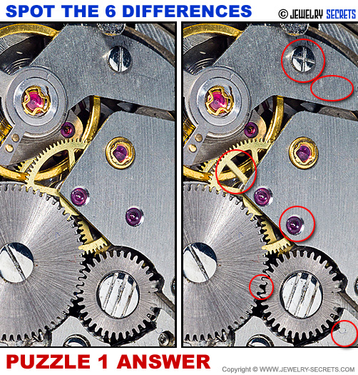 Spot The 6 Differences Fun Jewelry Puzzle 1 Solution Answer