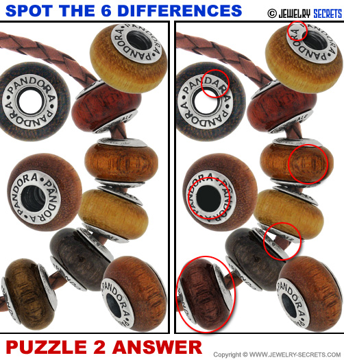 Spot The 6 Differences Fun Jewelry Puzzle 2 Solution Answer