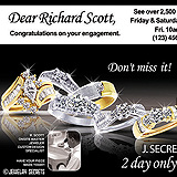 Bridal Show Postcard Sample Ad