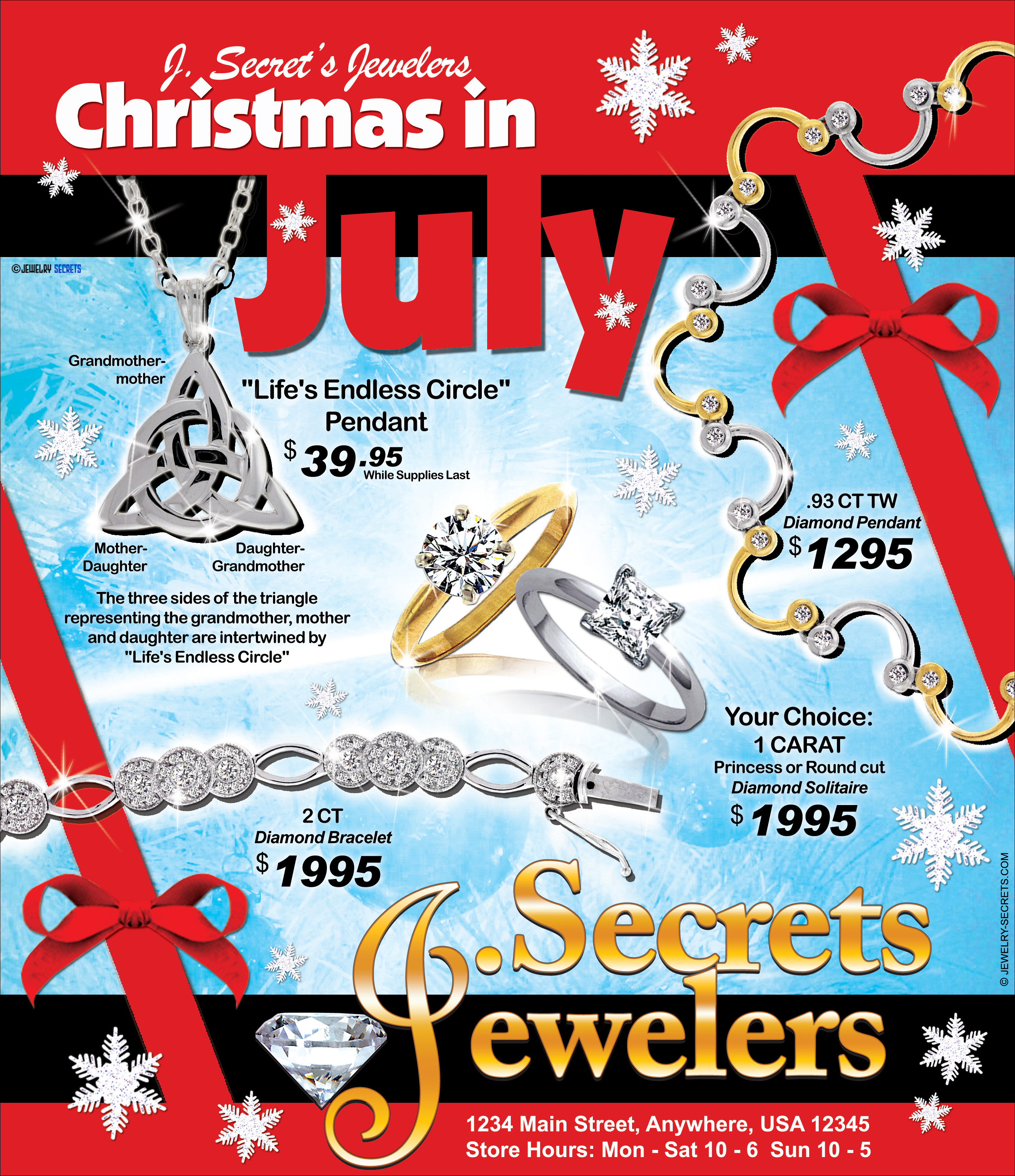 JEWELER'S CHRISTMAS IN JULY SAMPLE ADVERTISEMENT – Jewelry ...