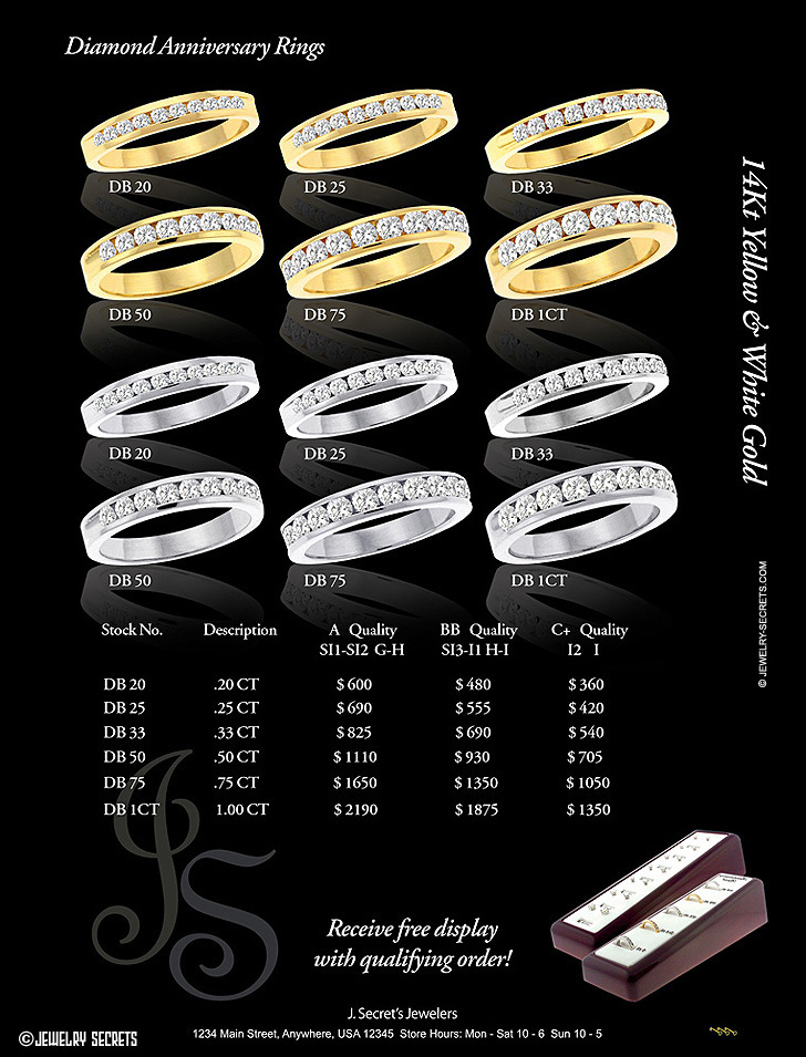 Diamond Anniversary Band Catalog Page Sample Advertisement