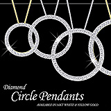 Diamond Circle Pendant Sample Postcard