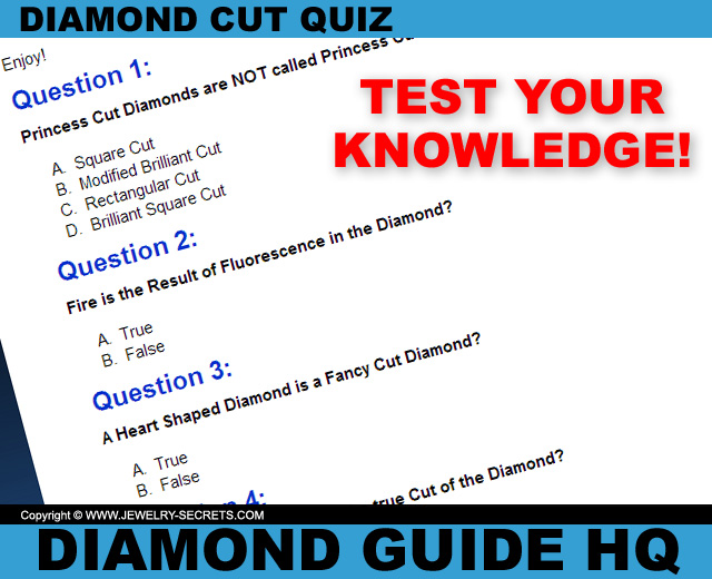 Diamond Cut Quiz!