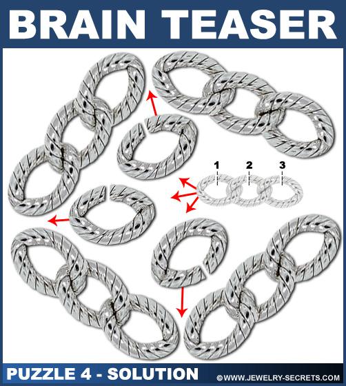 Diamond Necklace Brain Teaser Puzzle 4 Solution