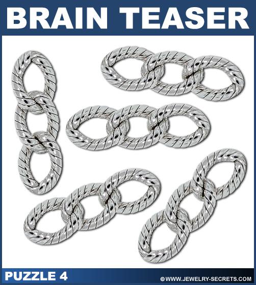 Diamond Necklace Brain Teaser Puzzle 4