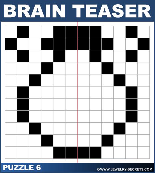 Symmetrical Puzzle Brain Teaser Puzzle 6 Solution
