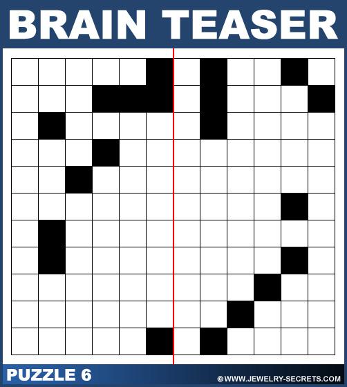 Symmetrical Brain Teaser Puzzle 6