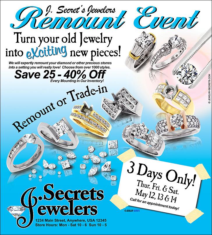 Diamond Remount Event Ad Sample Advertisement