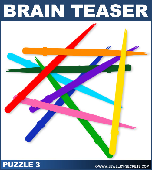Diamond Tweezer Brain Teaser Puzzle 3