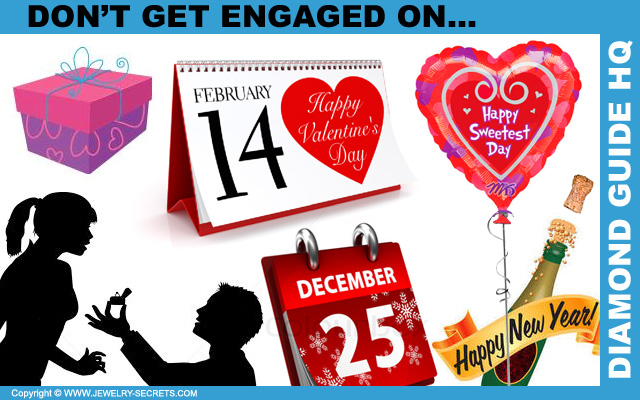 Don't Get Engaged on Christmas, a Holiday, or Her Birthday!