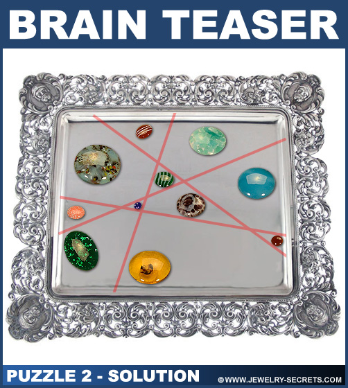 Split Gemstone Brain Teaser Puzzle 2 Solution