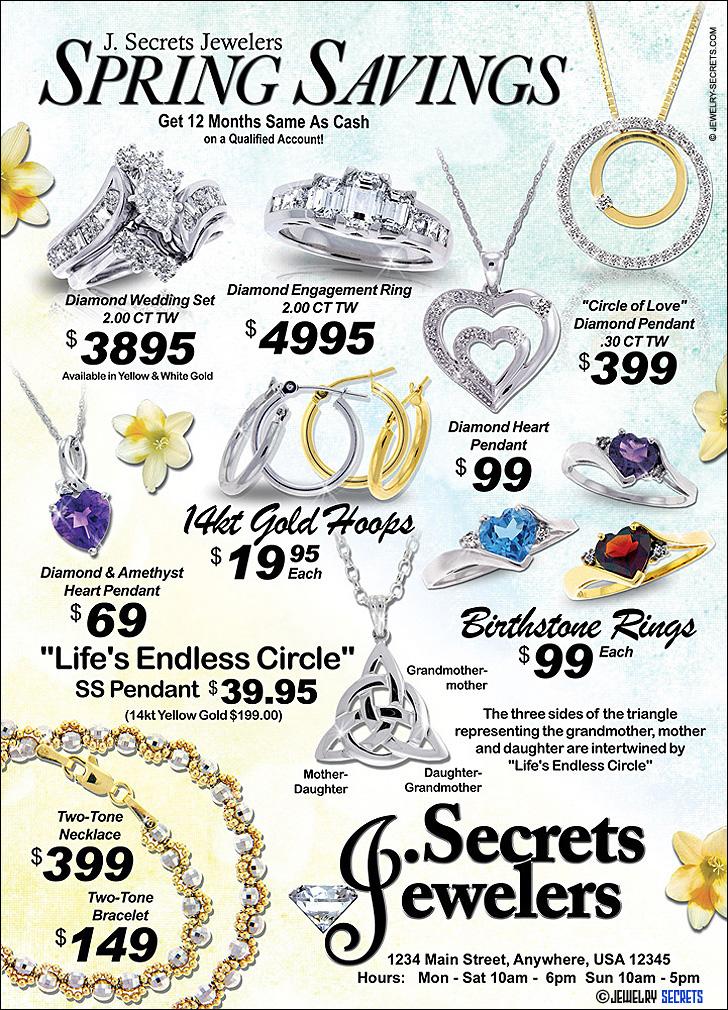 Gold And Diamond Savings Sample Advertisement
