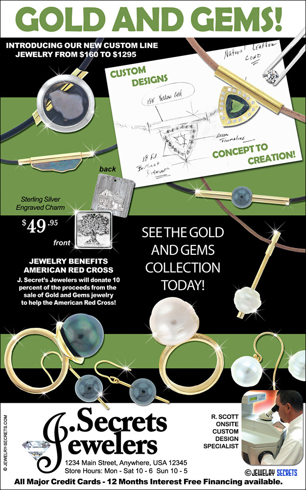 Gold and Gems Sample Advertisement