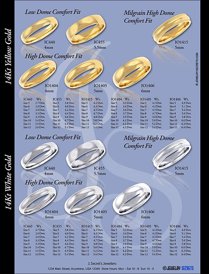 Gold Wedding Band Catalog Page Sample Advertisement