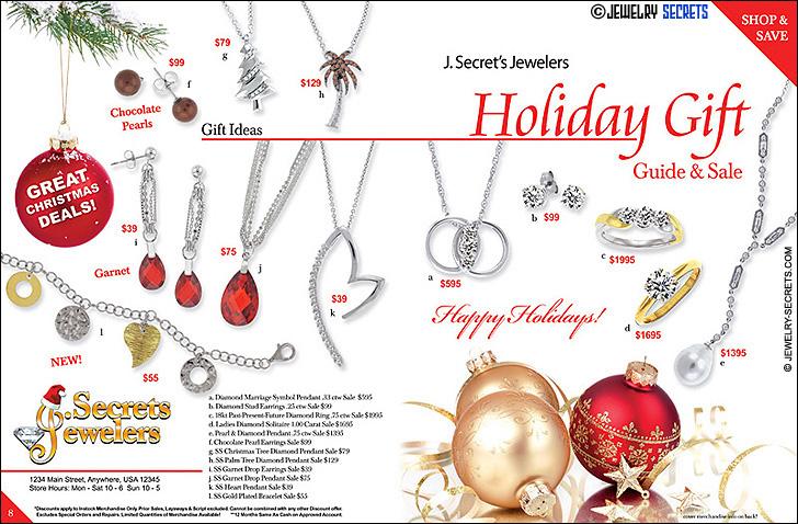 Jewelers Christmas Catalog Sample Advertisement