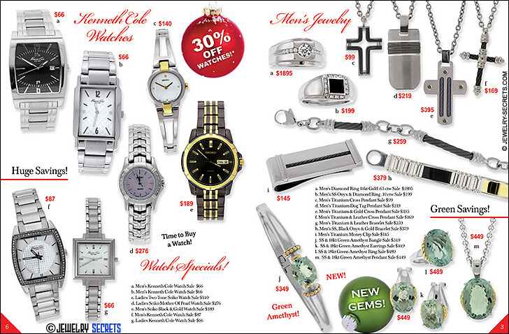 Jeweler's Christmas Catalog Pages 6-3 Sample Advertisement