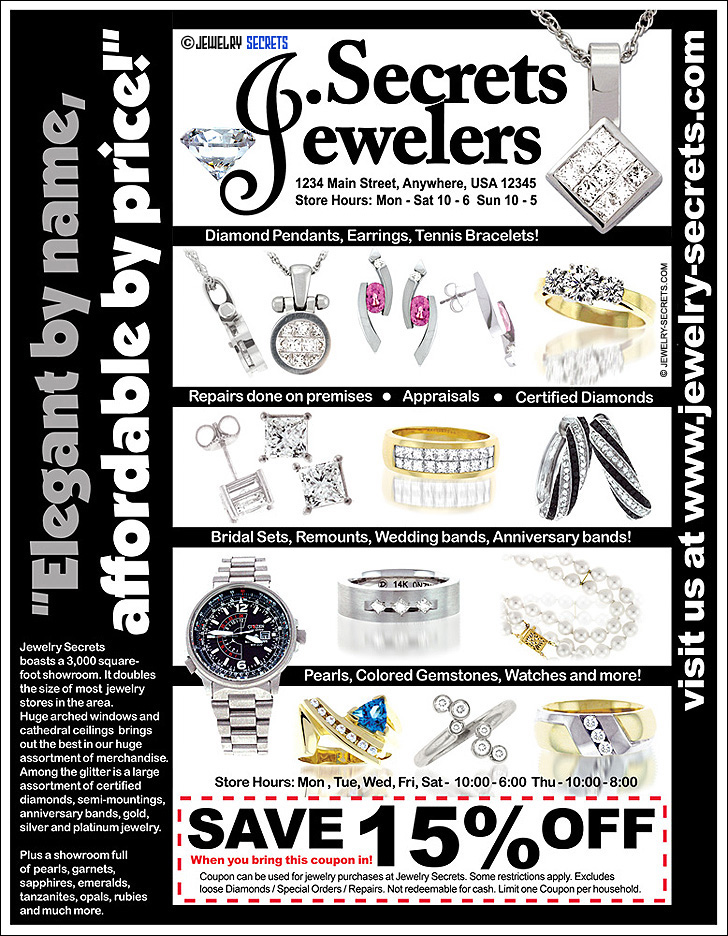 Jewelry Coupon Sample Advertisement