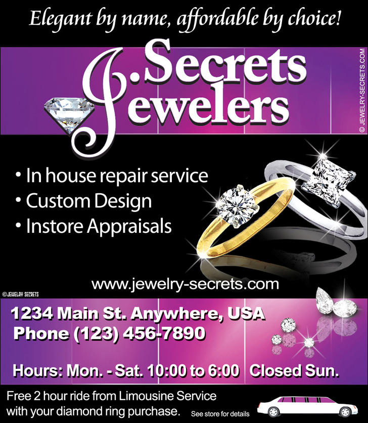 Jewelry In House Repairs Ad Sample Advertisement