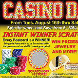 Jewelry Scratch Off Postcard Sample Ad