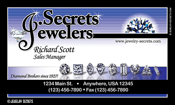 Jewelry Business Card Sample