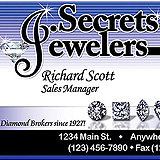 Jewelry Secrets Business Card Sample