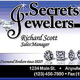 Jewelry Secrets Business Card Sample