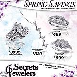 Jewelry Spring Savings Sample Ad