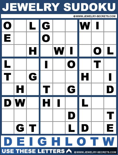 Jewelry Sudoku Puzzle