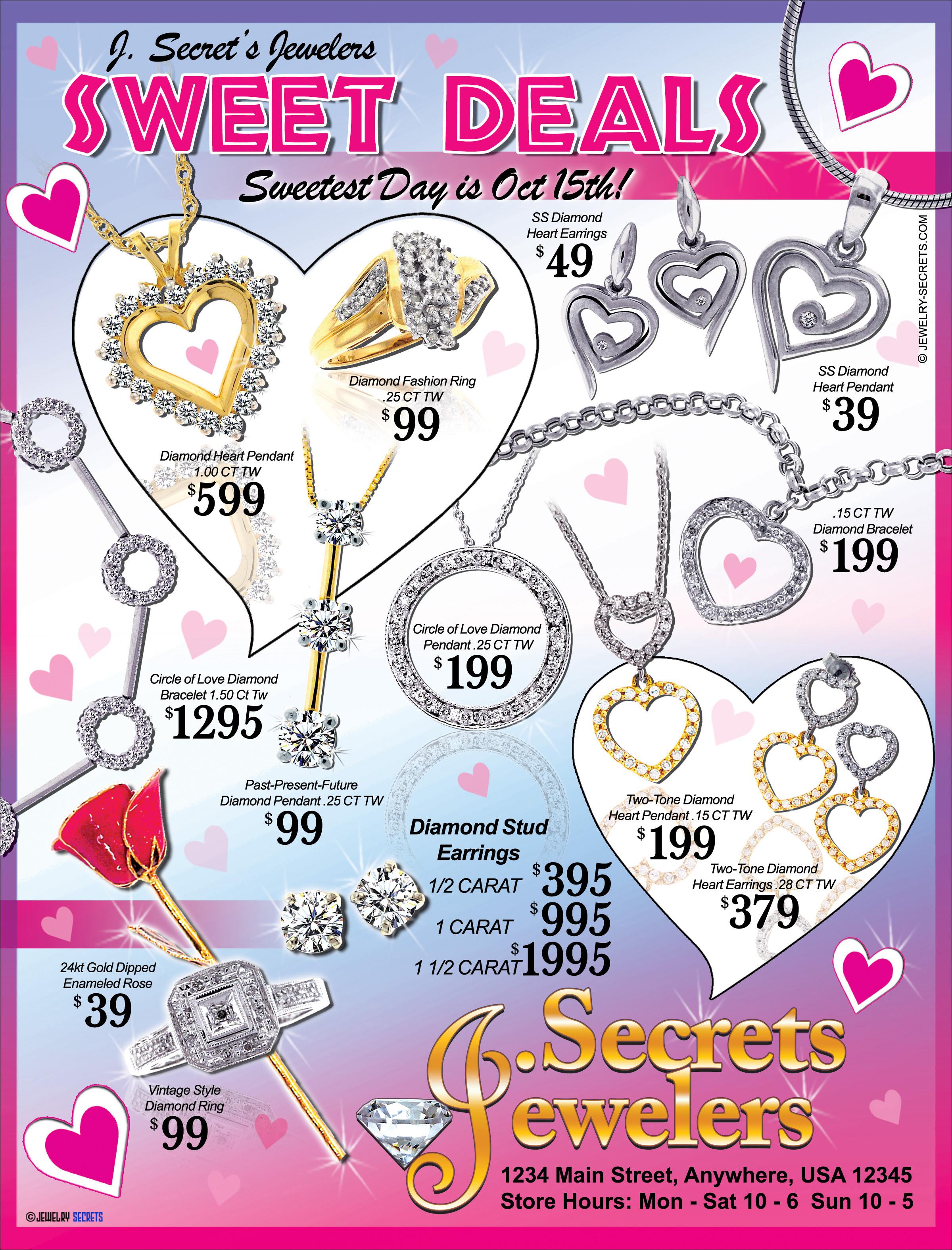 JEWELER'S SWEETEST DAY SALES SAMPLE ADVERTISEMENT – Jewelry Secrets