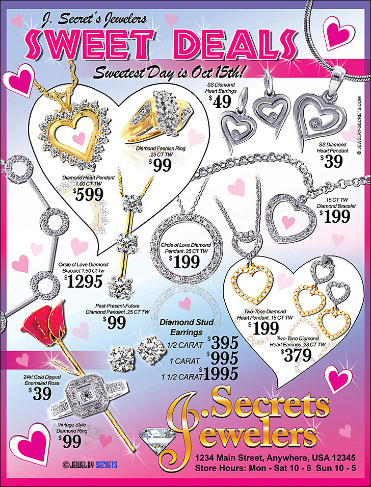 Jewelers Sweetest Day Sales Ad Sample Advertisement