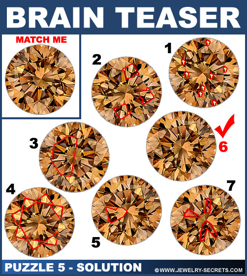 Matching Diamond Brain Teaser Puzzle 5 Solution