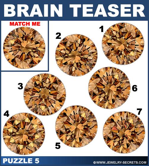 Matching Diamond Brain Teaser Puzzle 5