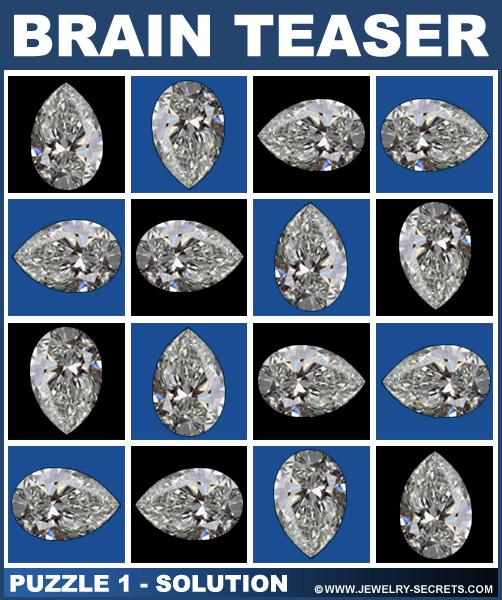 Missing Diamond Brain Teaser 1 Solution