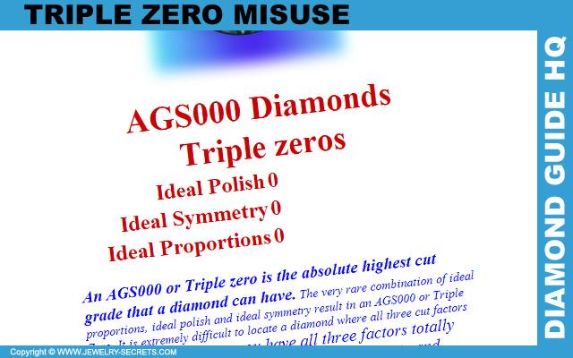 Misuse Of The AGS Triple Zero Grading Criteria!