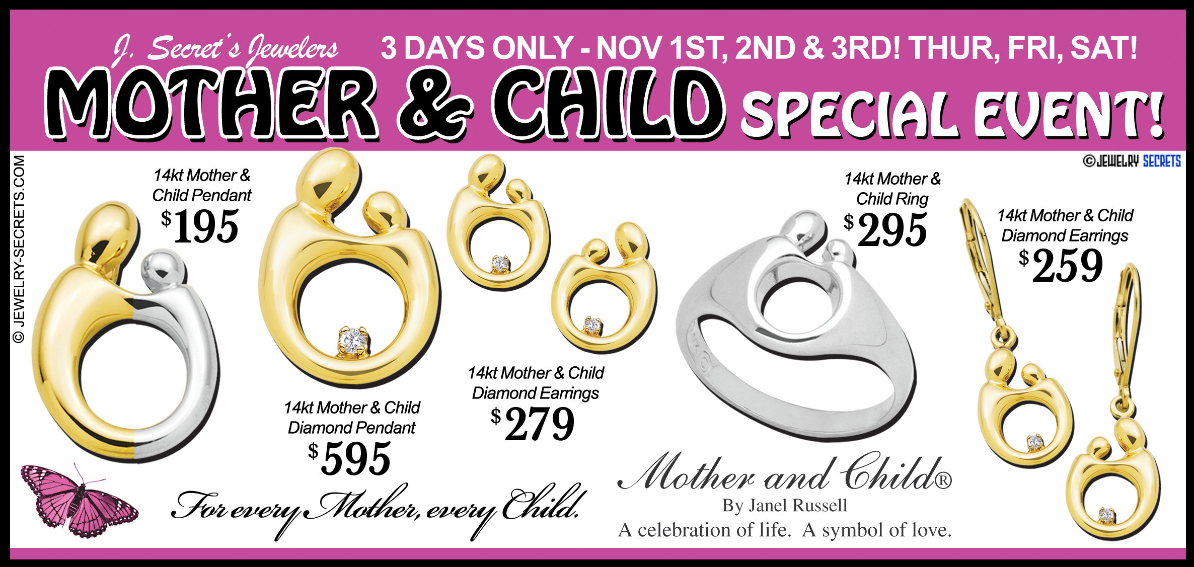 Mother and child postcard sample advertisement jewelry secrets mother and child postcard ad sample advertisement thecheapjerseys Images