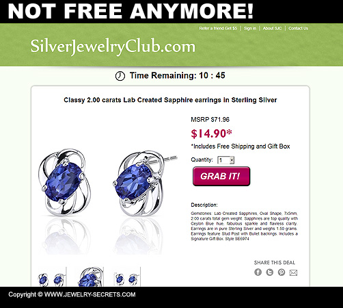 Jewelry Not Free Anymore