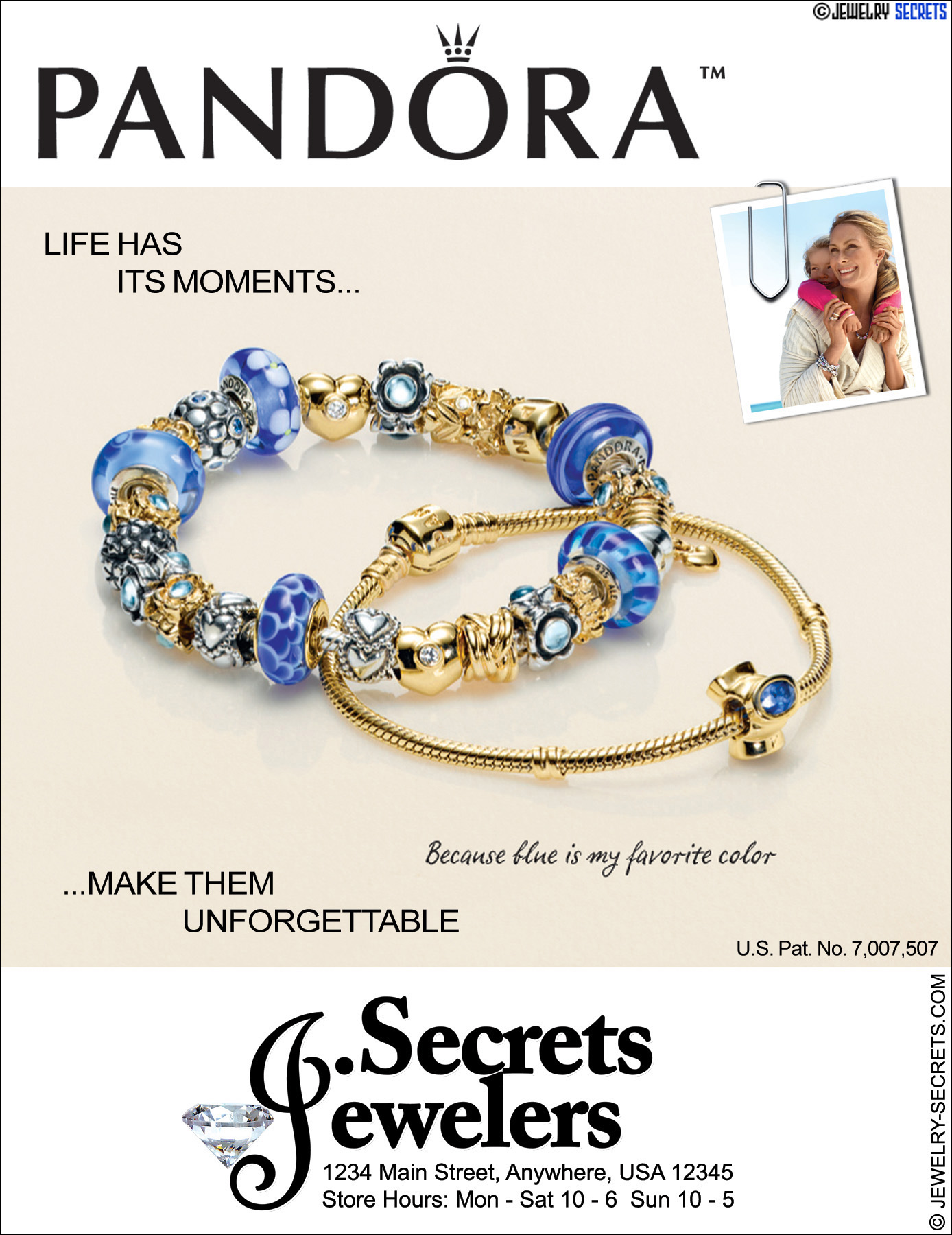 Pandora Bracelet Sample Advertisement Jewelry Secrets