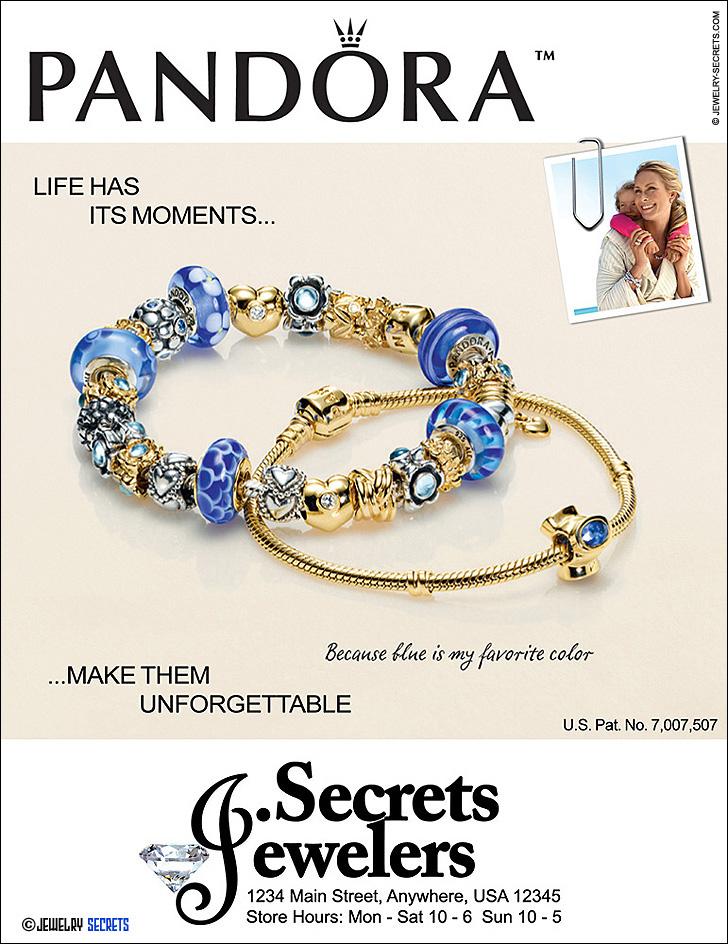 Pandora Bracelet Sample Advertisement
