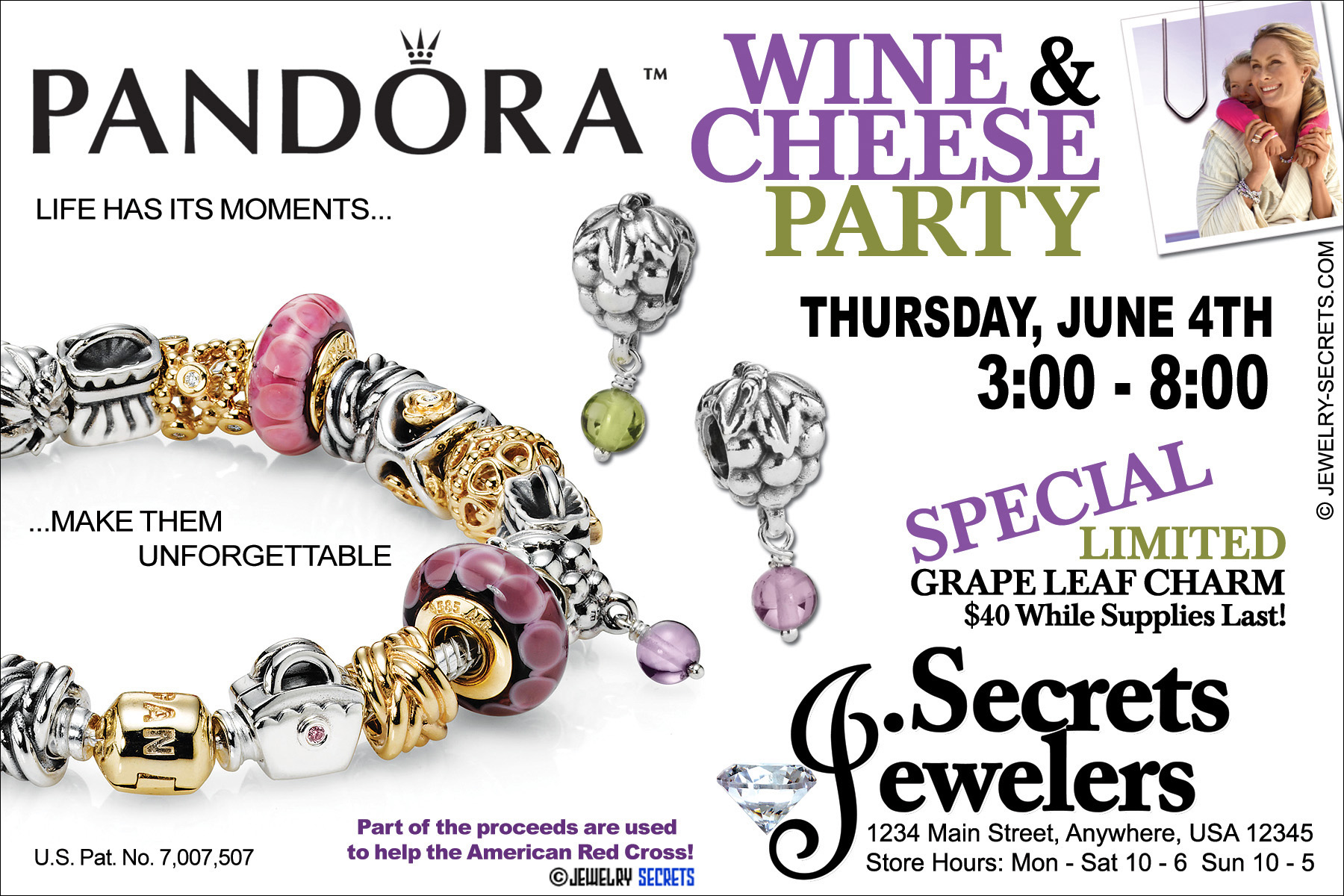 Pandora Bracelet Party Sample Advertisement Jewelry Secrets