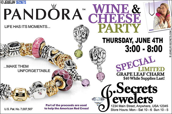 Pandora Bracelet Party Sample Advertisement