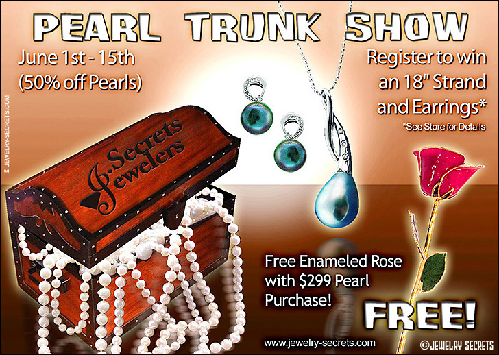 Pearl Trunk Show Jewelry Ad Sample Advertisement