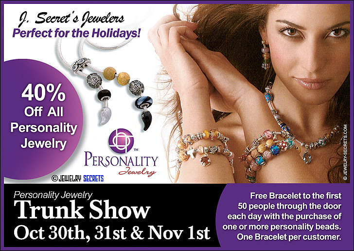 Personality Jewelry Postcard Sample Advertisement